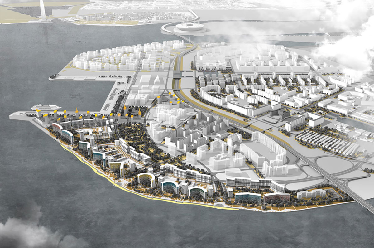 Draft project of four new quarters in the southern part of Vasilievsky Island